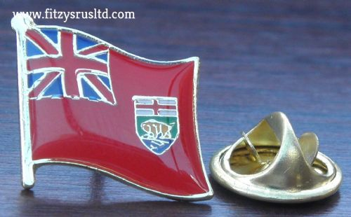 Manitoba Flag - Enamel Lapel / Hat / Cap / Tie Pin Badge Winnipeg Gift Souvenir